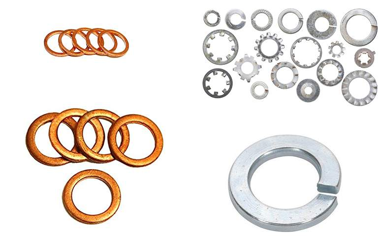 spring washers and shim